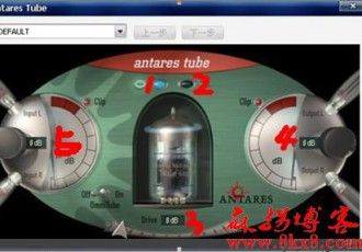 『VST效果插件』胆机模拟效果器Antares Tube.dll使用方法